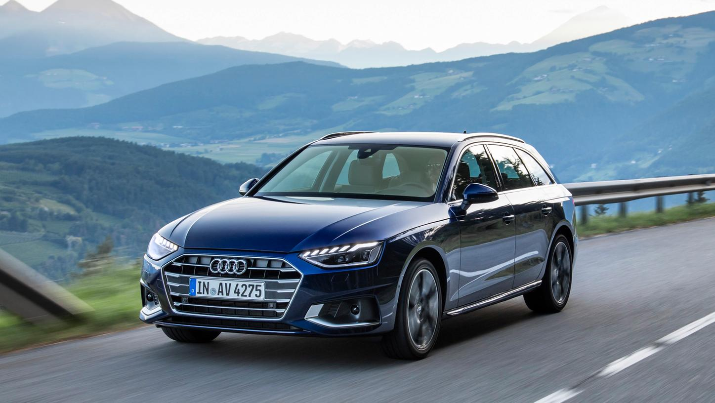 Audi A4 Avant 40 TFSI: Der mildhybridisierte Zweiliter-Vierzylinder-Turbobenziner leistet 140 kW/190 PS.