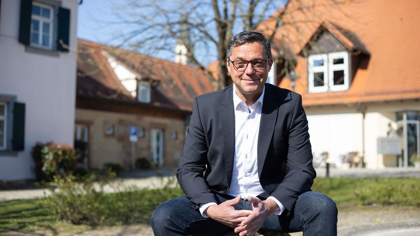 Bgm. Gerhard Bauer (Wählergemeinschaft Hallerndorf) von Hallerndorf - Kommunalwahl 2020 Bayern.Foto: (c) RALF RÖDEL / NN (08.04.2020)