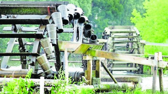 Aufbau der Wasserräder bei Möhrendorf verzögert sich
