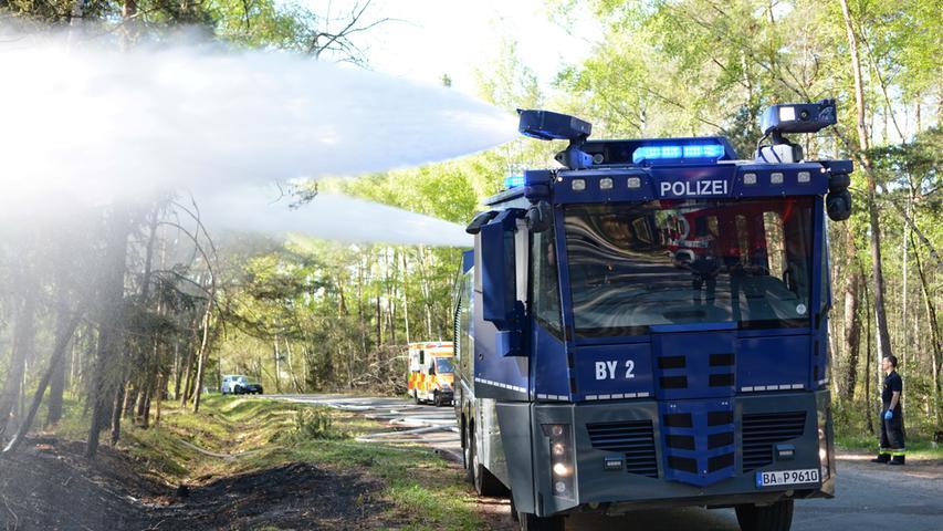 Nahe Munitionsgelände: Waldbrand am Nürnberger Stadtrand