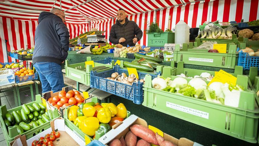 Während Corona-Krise geöffnet: Das sind Nürnbergs Wochenmärkte
