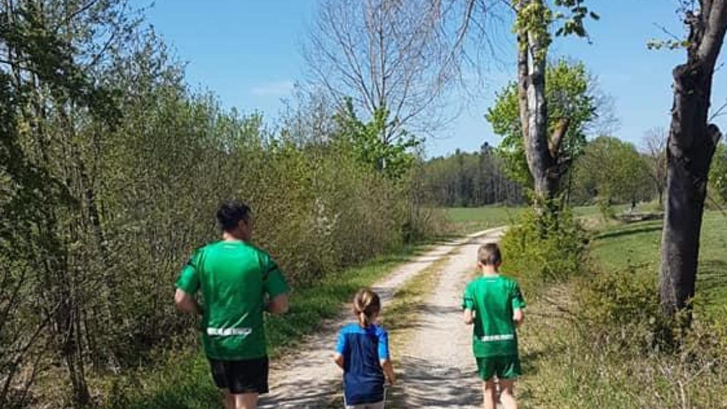 Feld, Wald und Wiese bildeten die Kulisse der privaten Lauf-Aktivitäten. Selbst im fernen Simbabwe drehte ein Starter seine Runde für den guten Zweck.