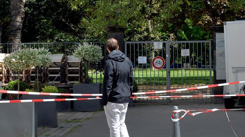 Corona-Shutdown, Tag 47: Noch immer ist der Schlossgarten nicht zugänglich.