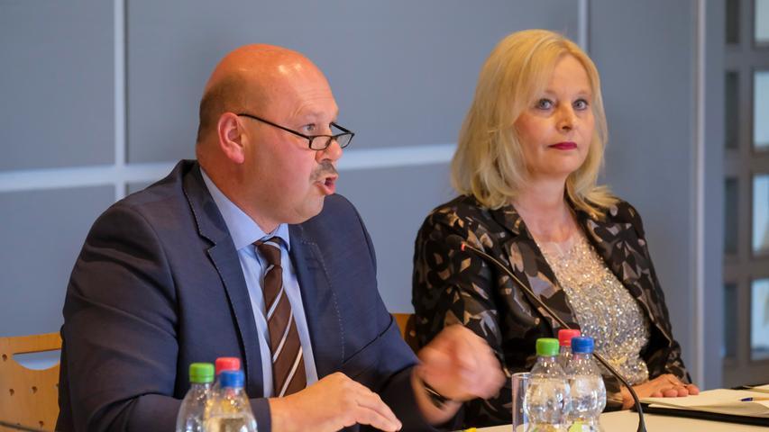 Walter Drebinger, CSU-Fraktionssprecher und Sabine Hanisch (CSU)
