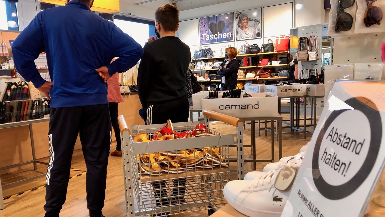 Auch der Einzelhandel in Stadt und Landkreis Forchheim muss wieder Einschnitte befürchten. Das Bild ist im Mai 2020 entstanden.