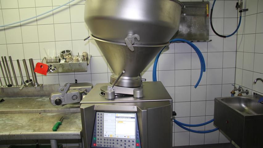 Maschinen wie diese ersetzten einen Großteil der Fleischverarbeitung.