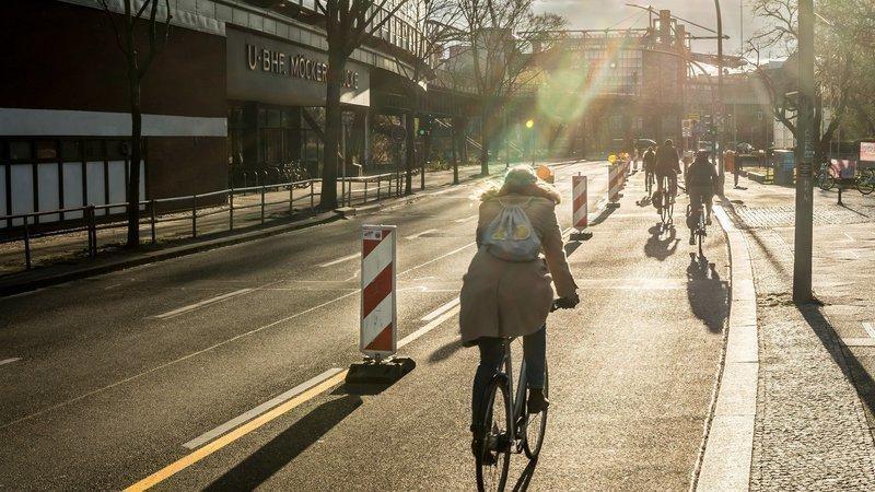 So könnten Pop-Up-Radwege auch in Fürth aussehen.