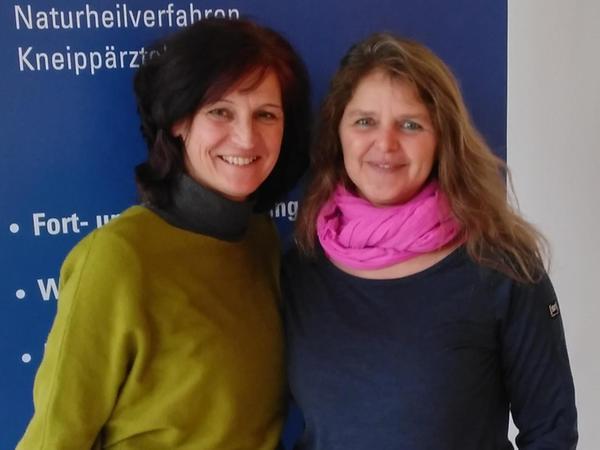 Manuela Rößler und Angelika Liefke sind die künftigen Waldgesundheitstrainerinnen für Treuchtlingen (aufgenommen vor der Corona-Pandemie).