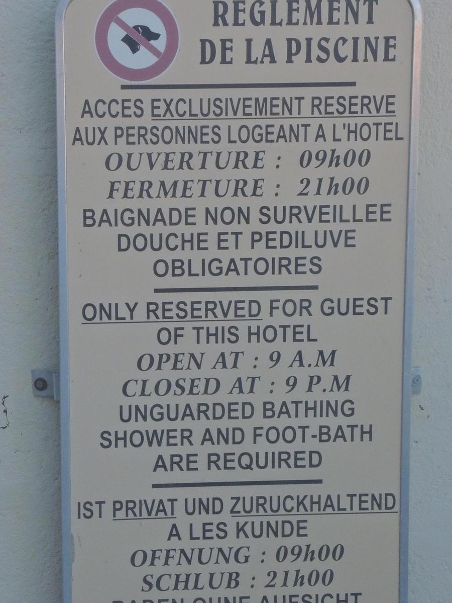 Gesehen von Jörg Meyer aus Schwaig-Behringersdorf in einem Schwimmbad in Arcachon/Frankreich.