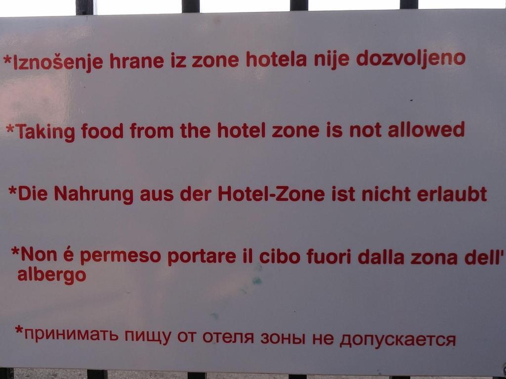 Gesehen von Utel Fellner aus Nürnberg in einem Hotel in Istrien, Kroatien.