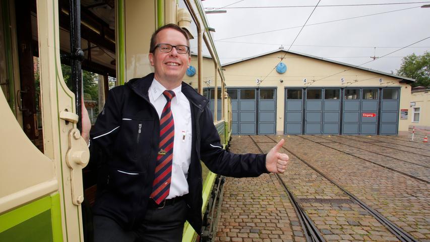 Niklas Schwarzmann kam 1994 als 15-Jähriger zum Verein. Seit 2017 arbeitet er hauptberuflich als Betreuer des Historischen Straßenbahndepots St. Peter bei der VAG.