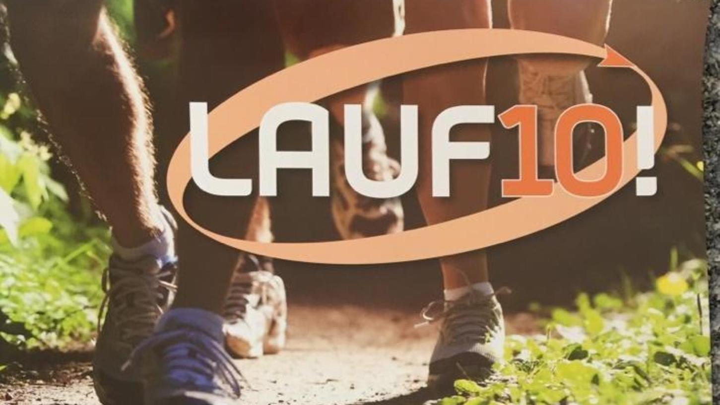 """So sieht das Logo für die Aktion """"LAUF10!"""" aus."""