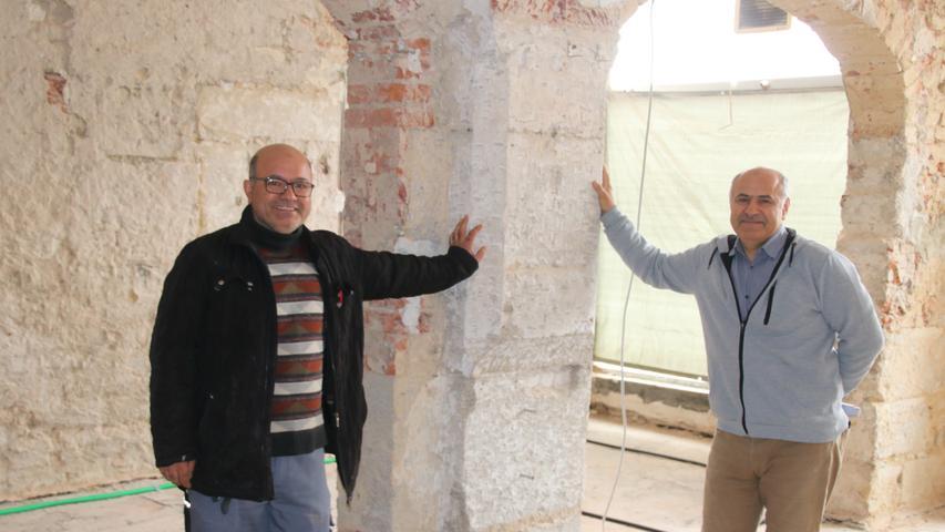 Zwischen den Gewölbebogen, wo früher die Pilsbar I-Punkt zuhause war, soll in ein paar Monaten die Rezeption des Hotels eine Heimat finden.