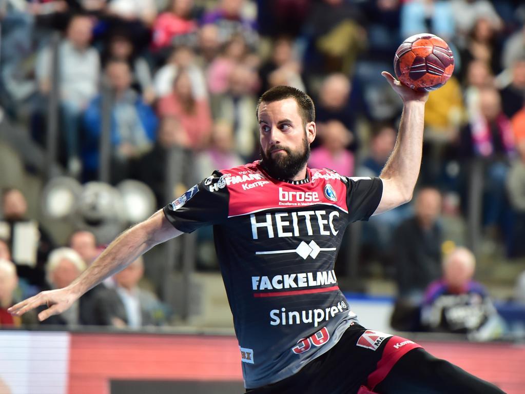 27.02.2020 --- Handball --- 1. Bundesliga LIQUI MOLY HBL --- Saison 2019 2020 ---  25. Spieltag: HC Erlangen Metropolregion Nürnberg HCE - Eulen Ludwigshafen --- Foto: Sport-/Pressefoto Wolfgang Zink / OGo ---   Florian von Gruchalla (36, HC Erlangen HCE )