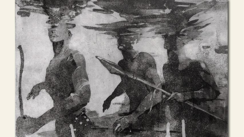 geb. 1961 in Addis Abeba, Äthiopien lebt in Nürnberg sucher (2019) 50 x 70 cm Radierung
