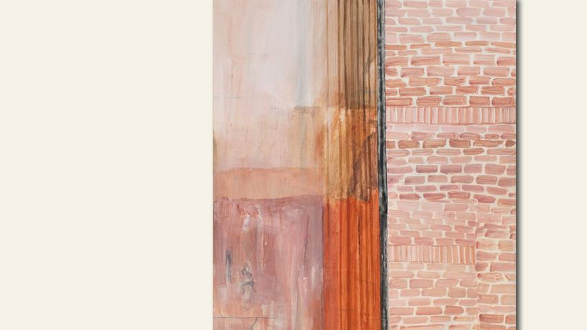 geb. 1978 in Ansbach lebt in Nürnberg Wall Complexion (2017) 220 x 170 cm Acryl-Leimfarbe auf Leinwand