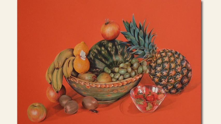 geb. 1980 in Nürnberg lebt in Bissingen Obst (2017) 50 x 70 cm Holzstift auf Papier rstmals im Wettbewerb vertreten