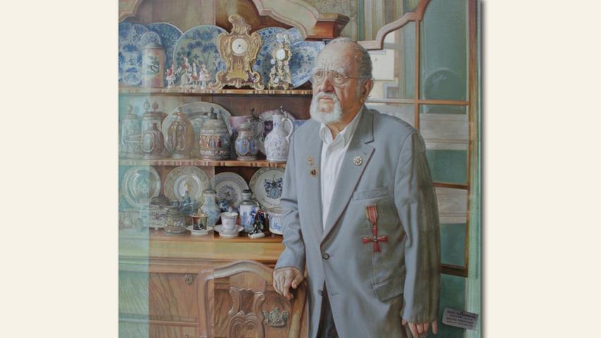 geb. 1952 in Erlangen lebt in Erlangen Portrait Bernd Nürmberger (2019) 110 x 110 cm Öl/Eitempera auf Leinwand
