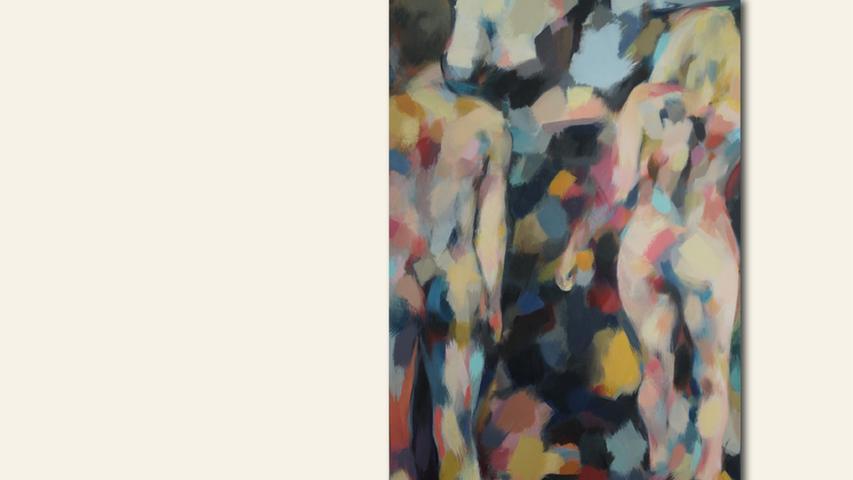 geb. 1965 in Neumarkt i. d. Obpfalz lebt in Wendelstein Adam und Eva - Auszug aus dem Paradies. (2019) 80 x 130 cm Acryl auf Leinwand erstmals im Wettbewerb vertreten