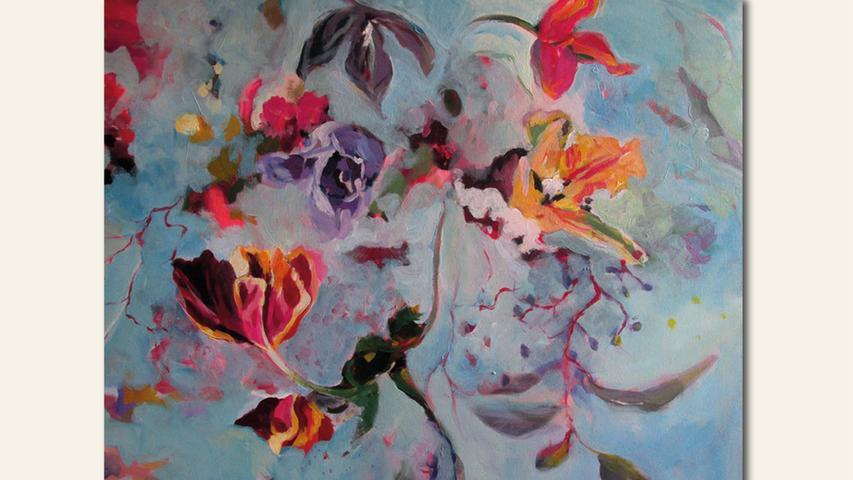 geb. 1967 in Erlangen lebt in Nürnberg Floral (2019) 100 x 80 cm Acryl auf Leinwand