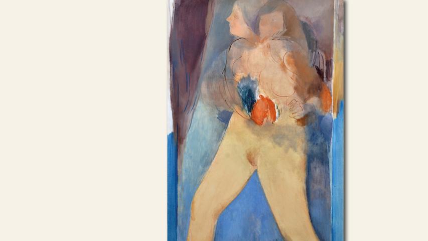 geb. 1983 in Nürnberg lebt in Nürnberg Gedacht Ungedacht (2020) 180 x 95 cm Öl auf Leinwand