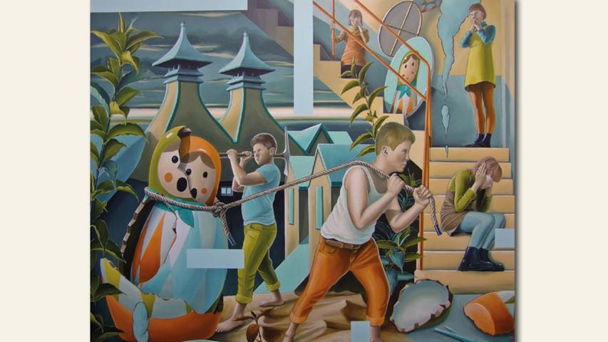 geb. 1974 in Thalmässing lebt in Hilpoltstein Die Gier (2019) 160 x 140 cm Acryl auf Leinwand erstmals im Wettbewerb vertreten