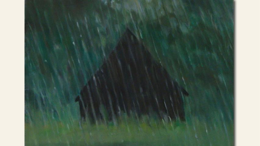 geb. 1960 in Karlsruhe lebt in Nürnberg Regen (2019) 30 x 40 cm Öl auf Leinwand
