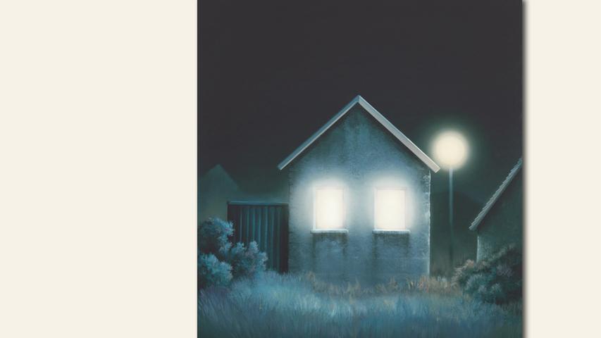 geb. 1979 in Nürnberg lebt in Nürnberg Eerie Home (Todd Hido) (2020) 110 x 90 cm Mischtechnik auf Leinwand