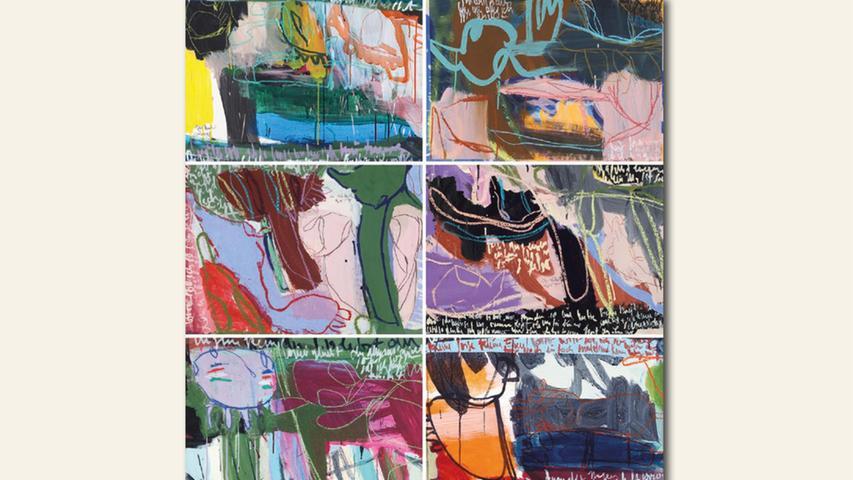 geb. 1959 in Amberg lebt in Nürnberg Geister die ich rief 2 (2018) 140 x 150 cm Acryl auf Papier