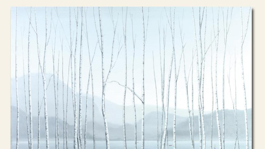 geb. 1950 in Neukirchen i. d. Obpfalz lebt in Zirndorf Ohne Titel grau (2019) 95 x 150 cm Acryl auf Leinwand