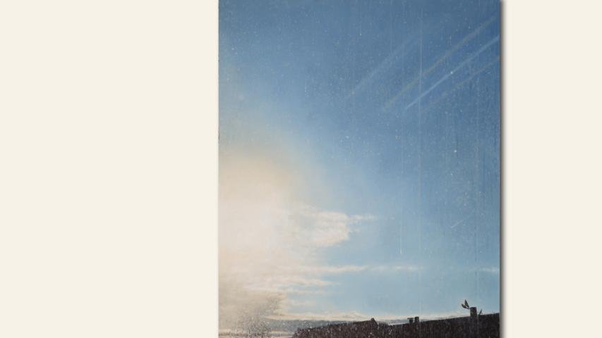 geb. 1958 in Nürnberg lebt in Nürnberg Warum Fenster putzen (2018) 96 x 68 cm Öl auf Holz