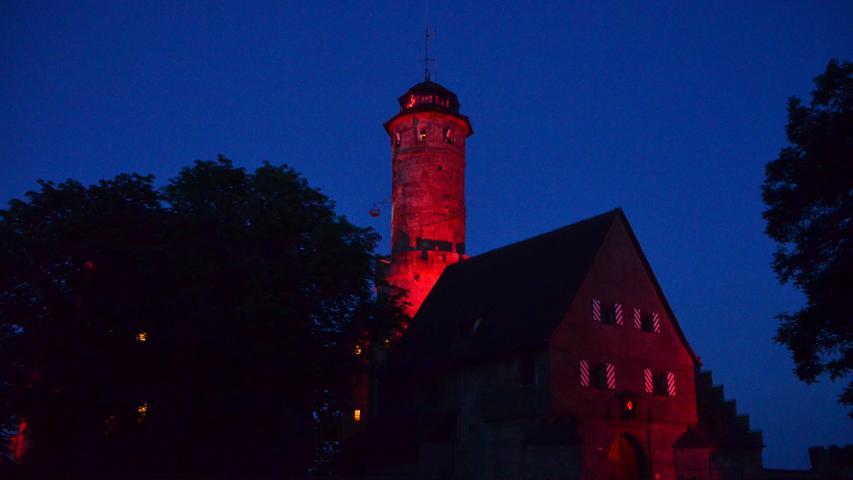 Bamberg glüht Rot: Night of Light in Oberfranken