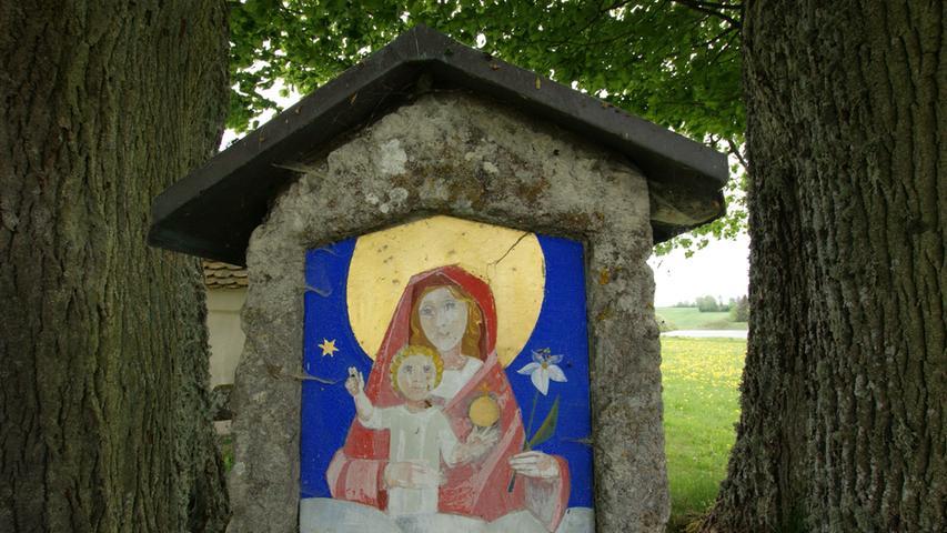 Marter an der Poppenkapelle in Auerbach. Foto: Brigitte Grüner