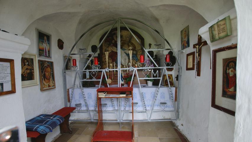 Innenansicht Poppenkapelle in Auerbach. Foto: Brigitte Grüner