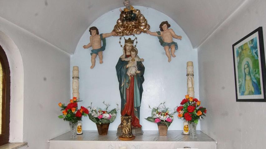 Innenansicht Lauberkapelle Auerbach. Foto: Brigitte Grüner