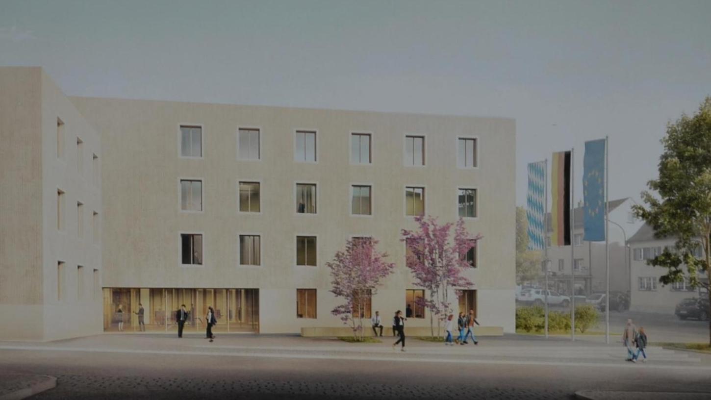 Fand bei der Jury den größten Zuspruch: der Entwurf des Stuttgarter Architekturbüros Steimle für den Neubau des Landesamtes für Schule in Gunzenhausen.