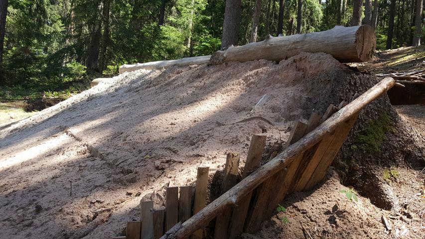 Mountainbike-Schanzen im Reichswald werden abgerissen
