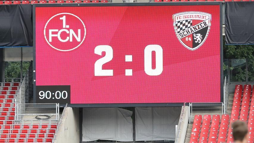 Damit hat der Club nach sechs sieglosen Heimspielen endlich wieder eine Partie auf eigenem Rasen gewonnen – und was für eine! Der Abstieg ist zwar noch nicht abgewendet, der FCN hat sich im Hinspiel aber in eine gute Position versetzt.
