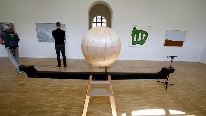 Florian Tuerckes Klangskulptur besticht schon durch ihre elegante Form. Wie der Künstler seiner