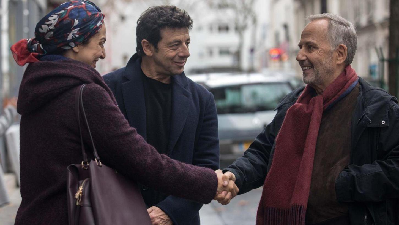 Fabrice Luchini und Patrick Bruel (Mitte) spielen die beiden dicken Freunde, die sich am Lebensende vor den Wahrheiten drücken.