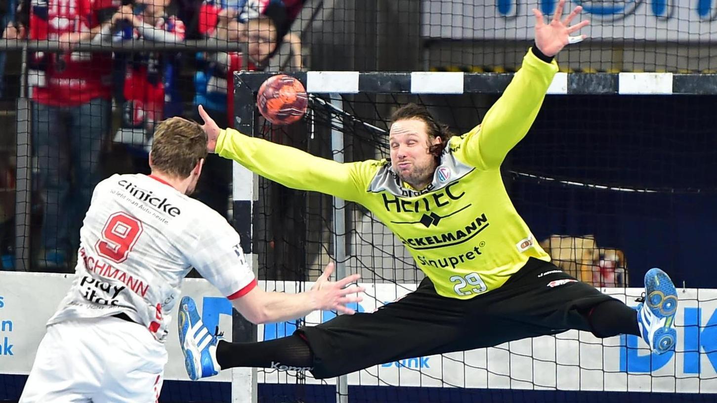 Vergangenheit, zum zweiten Mal: Nikolas Katsigiannis als Publikumsliebling beim HC Erlangen, der Torwart sucht jetzt eine neue Aufgabe.
