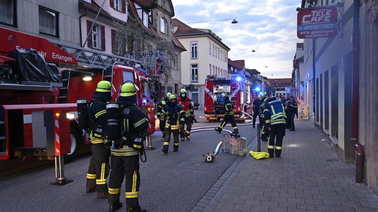 Feuerwehreinsatz in der Goethestraße.