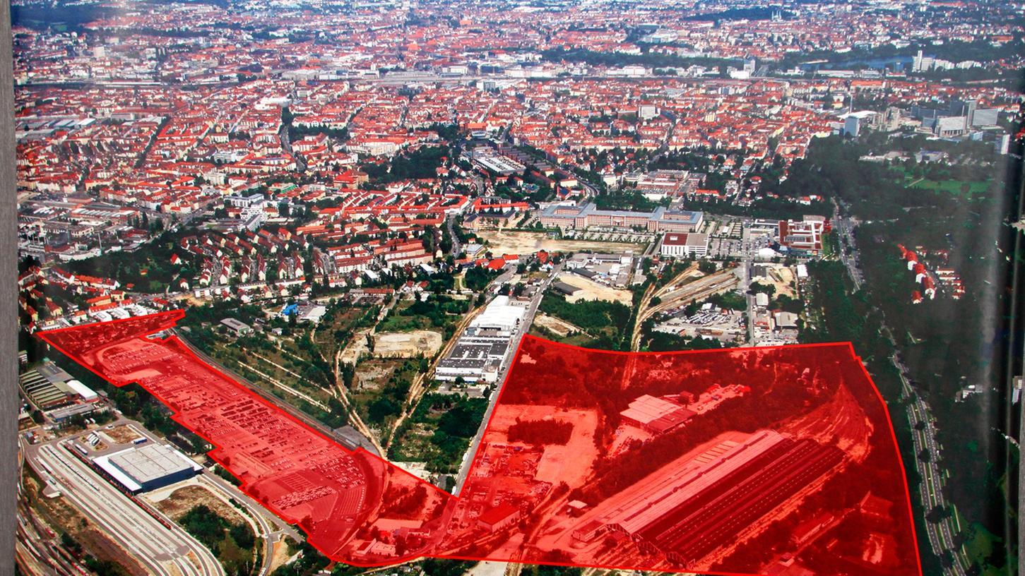 Die Universität soll am neuen Standort auf dem Areal an der Brunecker Straße im Nürnberger Süden entstehen.