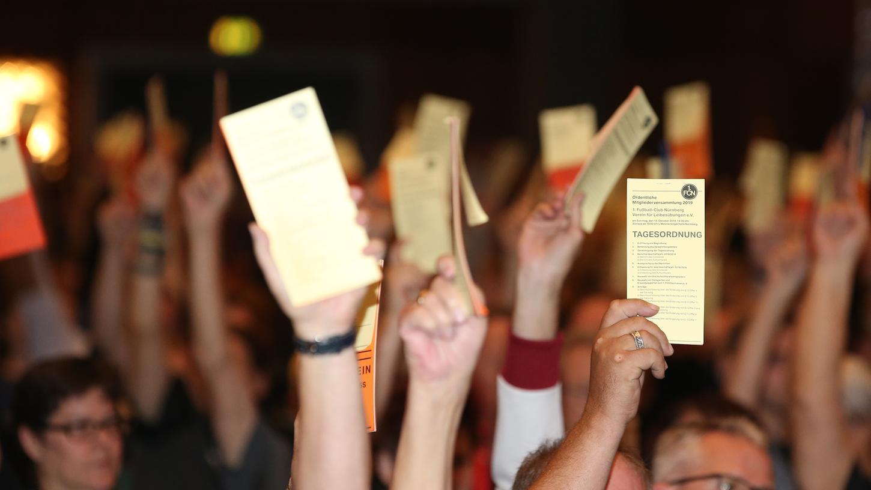 Abstimmungen aus dem Publikum im dicht bestuhlten Saal dürften bei der diesjährigen Hauptversammlung nicht zu erwarten sein.