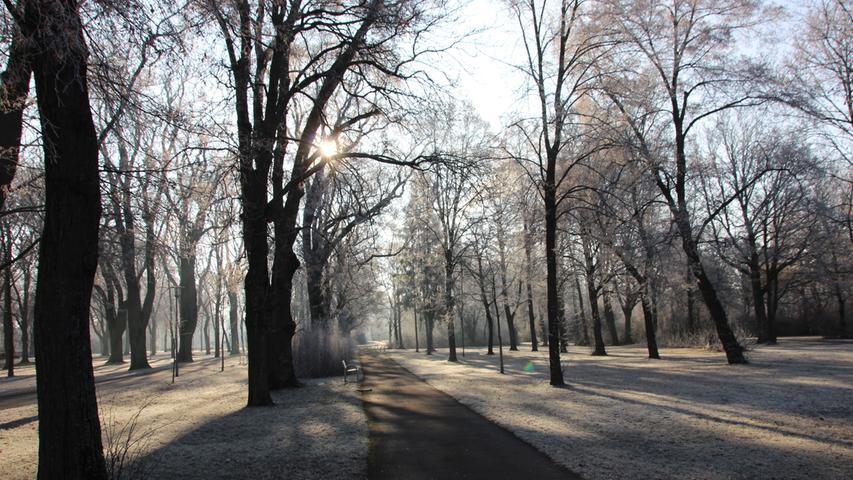 FOTO: Frank Wiemer, 2017 MOTIV: Kurpark, Bad Windsheim, Winter, Januar, Wetter, Schnee