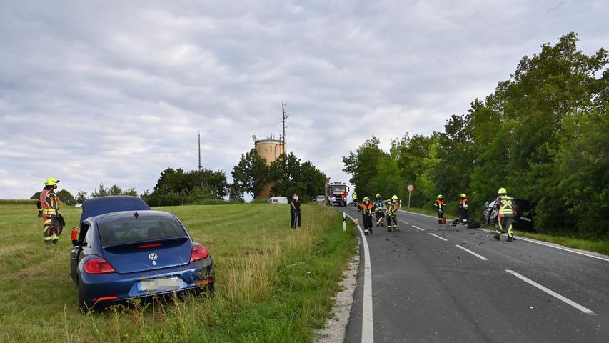 Schwerer Verkehrsunfall zwischen Marloffstein und Adlitz