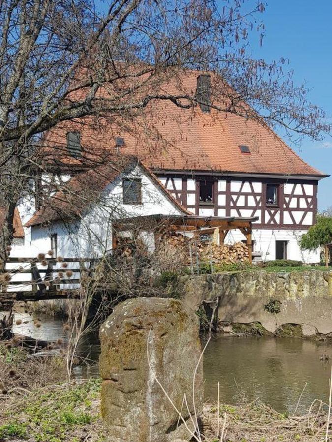 Bei der Eckenmühle in Herzogenaurach steht Markstein Nummer 20.