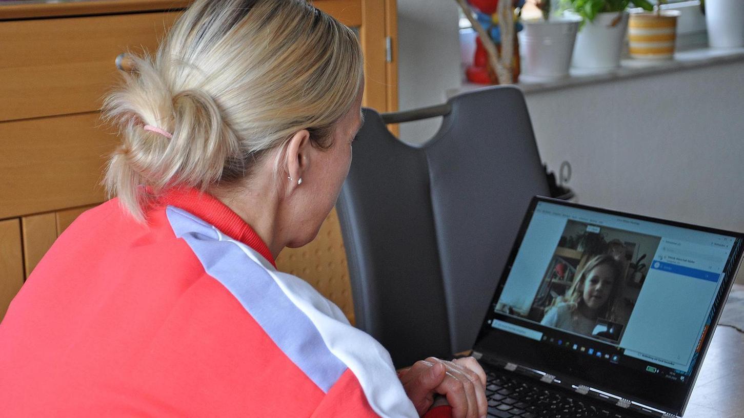 Co-Lehrerin Mandy Marschall-Müller beim Einzelcoaching.