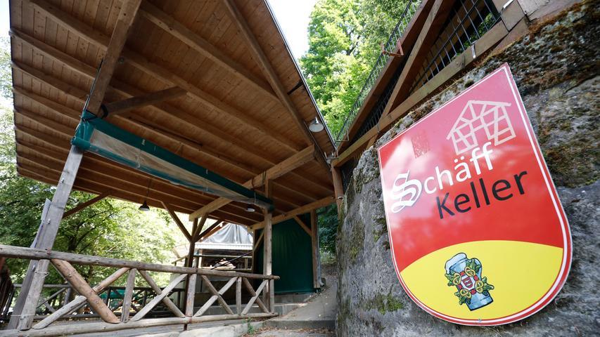 Der Schäffbräu-Keller hat nur während des Annafestes geöffnet.