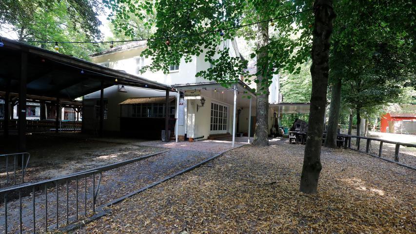 Normalerweise nur zum Annafest geöffnet ist der Hofmanns-Keller, also derzeit geschlossen.